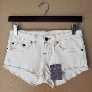 Carmar Mariana Super Low Rise Frayed Denim Shorts